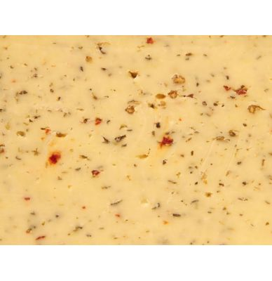 Gouda farmer´s Cheese Cow Ital.Herbs 50+ 5 - 6 weeks matured