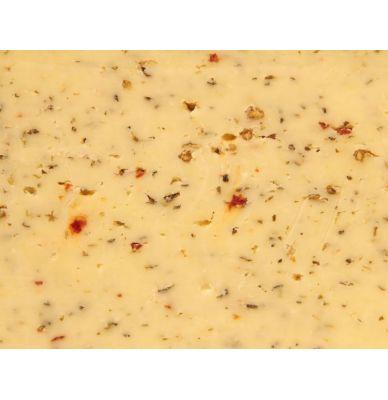Gouda farmer´s Cheese Cow Ital.Herbs 50+ 5 - 6 weeks matured